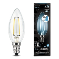 Gauss Лампа LED Filament Candle E14 7W 4100К step dimmable 1/10/50