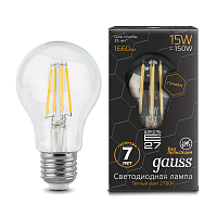 Gauss Лампа LED Filament Graphene A60 E27 15W 2700К 1/10/40