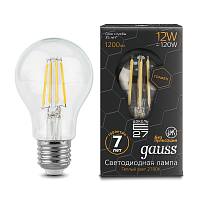 Gauss Лампа LED Filament Graphene A60 E27 12W 2700К 1/10/40